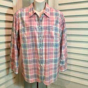 Ralph Lauren Pink Plaid Shirt Size 2X, EUC